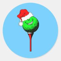 Christmas golf classic round sticker