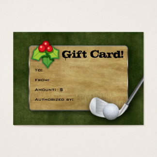 Christmas Golf Gift Card - Father's Day Green