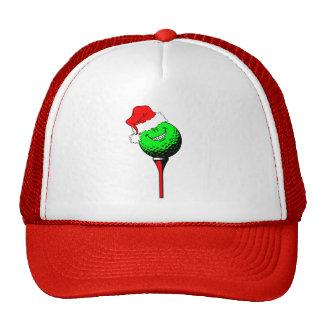 Christmas golf trucker hat