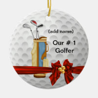 CHRISTMAS  GOLF Personalized Ornament