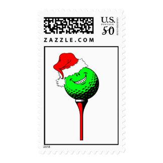 Christmas golf postage