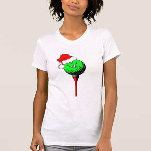 Christmas golf tee shirt
