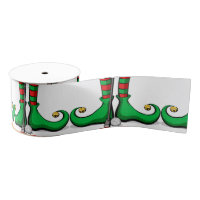 Christmas Golfing Elf Feet Ribbon