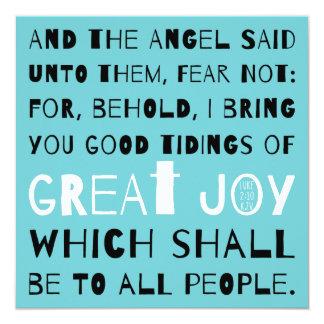 Christmas Good Tidings of Great Joy Luke 2:10 Card