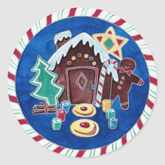 Christmas Goodies Classic Round Sticker
