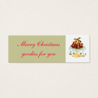 Christmas goodies gift tag