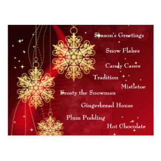 Christmas Goodies Postcards