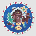 Christmas Goodies Round Sticker