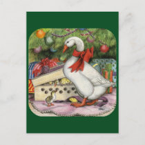 Christmas Goose Holiday Postcard
