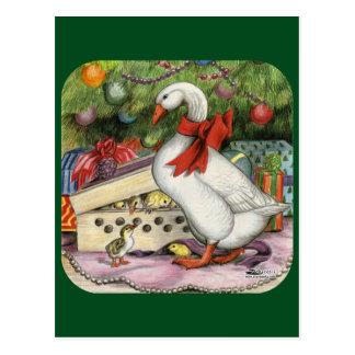 Christmas Goose Postcard