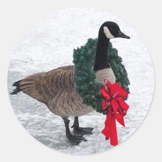 Christmas Goose stickers