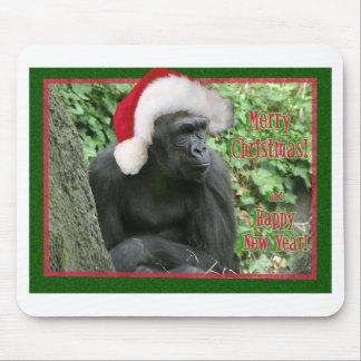 Christmas Gorilla Mouse Pad