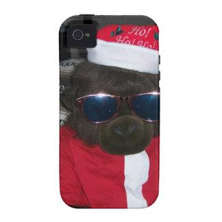 Christmas Gorilla Santa Claus Case-Mate iPhone 4 Cases