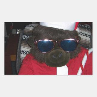 Christmas Gorilla Santa Claus Rectangular Sticker
