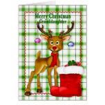CHRISTMAS - GRANDDAUGHTER - REINDEER CARD