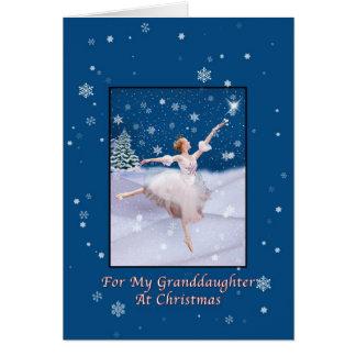 Christmas, Granddaughter, Snow Queen Ballerina Greeting Card