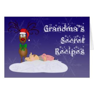 Christmas Grandma Recipe Postcard