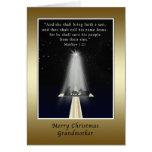 Christmas, Grandmother,  Religious Greeting Card