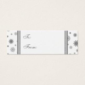 Christmas Gray Snowflakes Gift Tags