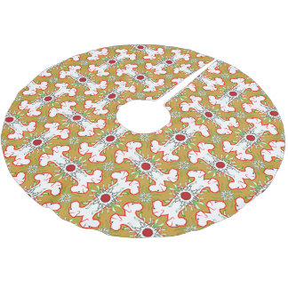 christmas great dane brushed polyester tree skirt