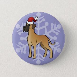 Christmas Great Dane Button