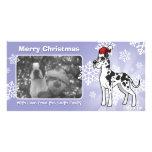 Christmas Great Dane Customized Photo Card