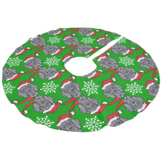 christmas great dane faux linen tree skirt