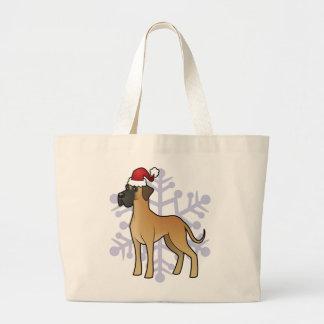 Christmas Great Dane Large Tote Bag