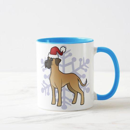 Christmas Great Dane Mug