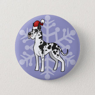 Christmas Great Dane Pinback Button