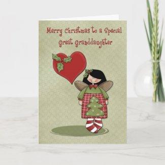Christmas Great Granddaughter card