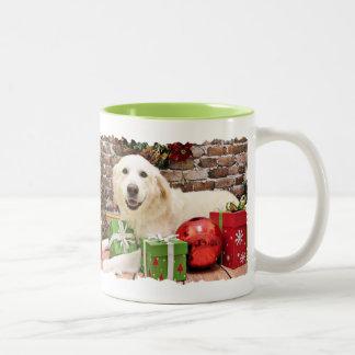 Christmas - Great Pyrenees Labrador X - Doughty Two-Tone Coffee Mug