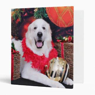 Christmas - Great Pyrenees - Sophie Vinyl Binder