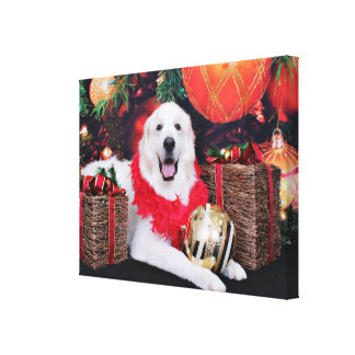 Christmas - Great Pyrenees - Sophie Canvas Print