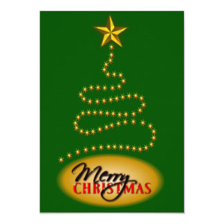 Christmas Green and Gold Party Invitation Invite