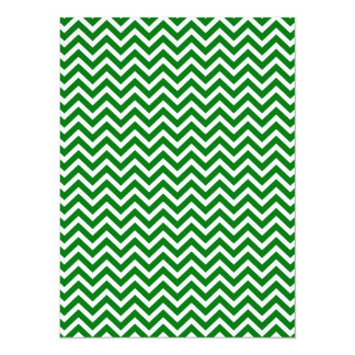 Christmas Green and White Chevron ZigZag Card