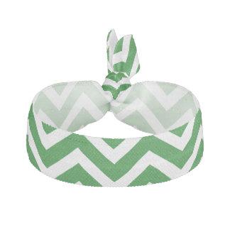 Christmas Green and White Chevron ZigZag Hair Tie