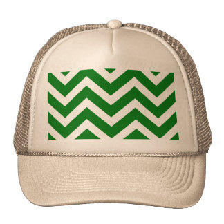 Christmas Green and White Chevron ZigZag Hats