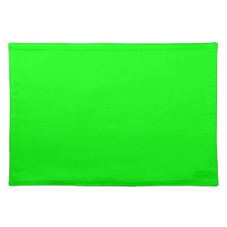 Christmas Green Bright Neon Color Blank Template Placemat