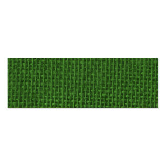 Christmas Green Burlap Double-Sided Mini Business Cards (Pack Of 20)