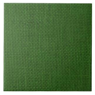 Christmas Green Burlap Tiles
