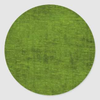Christmas Green Chenille Fabric Texture Classic Round Sticker