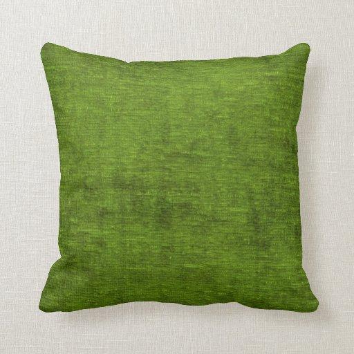 Christmas Green Chenille Fabric Texture Throw Pillow