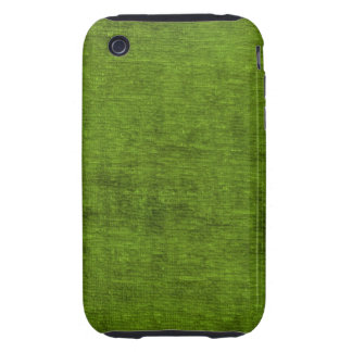 Christmas Green Chenille Fabric Texture Tough iPhone 3 Case