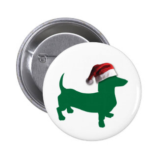Christmas Green Dachshund Buttons