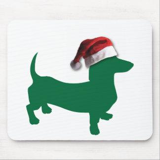 Christmas Green Dachshund Mouse Pad