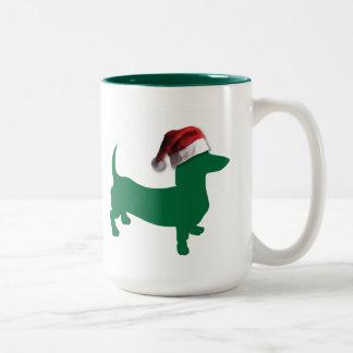 Christmas Green Dachshund Mug