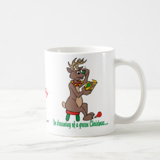 Christmas Green Nosed Reindeer Coffee Mug