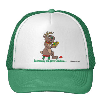 Christmas Green Nosed Reindeer Trucker Hat