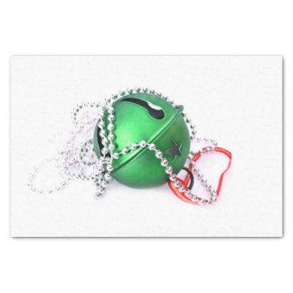 "Christmas green ornament 10"" x 15"" tissue paper"
